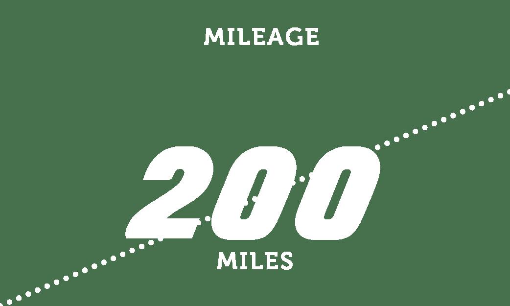 Mileage 200 miles