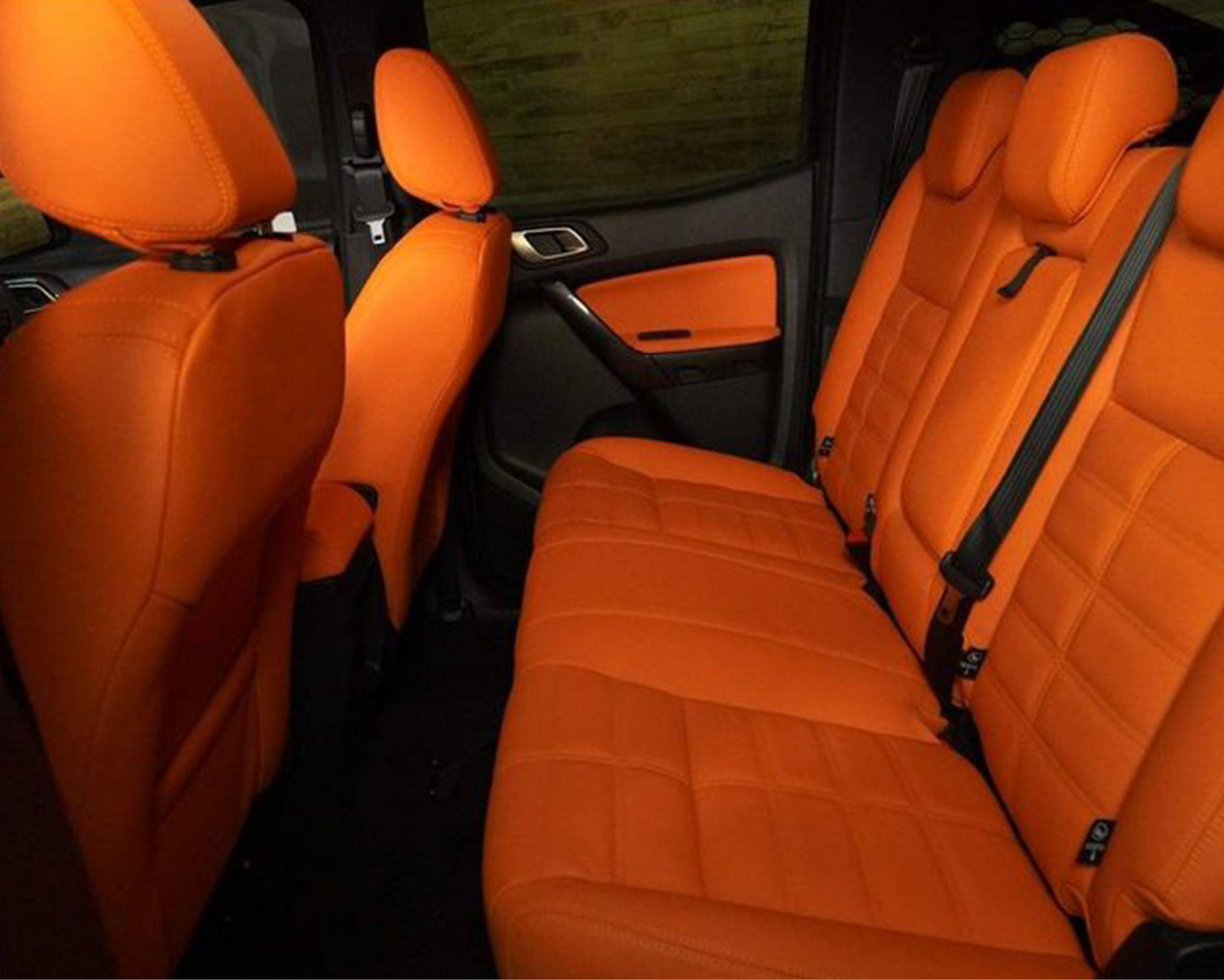 Orange Interior Seats